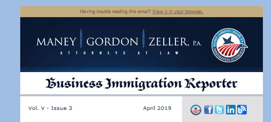 Business Immigration Reporter April 2019
