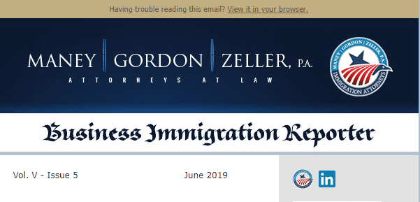 Business Immigration Reporter June 2019