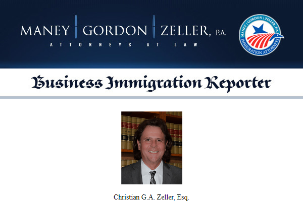 Maney | Gordon | Zeller - Business Immigration Reporter